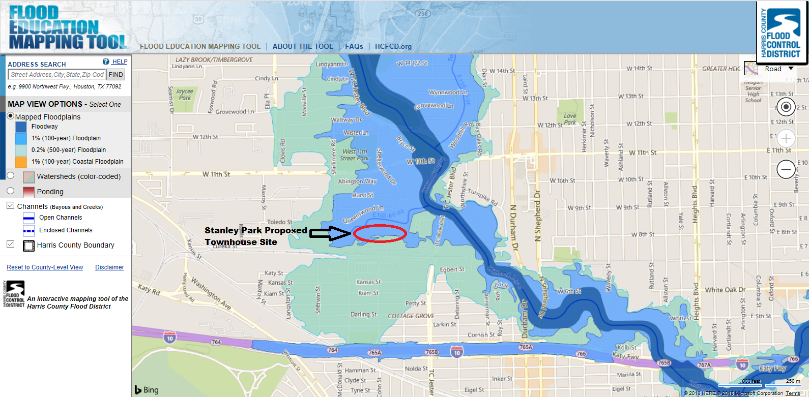 A Case Study in Why Houston Floods: The Stanley Park Project